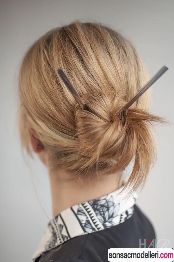 pratik Kısa saç toplama modelleri