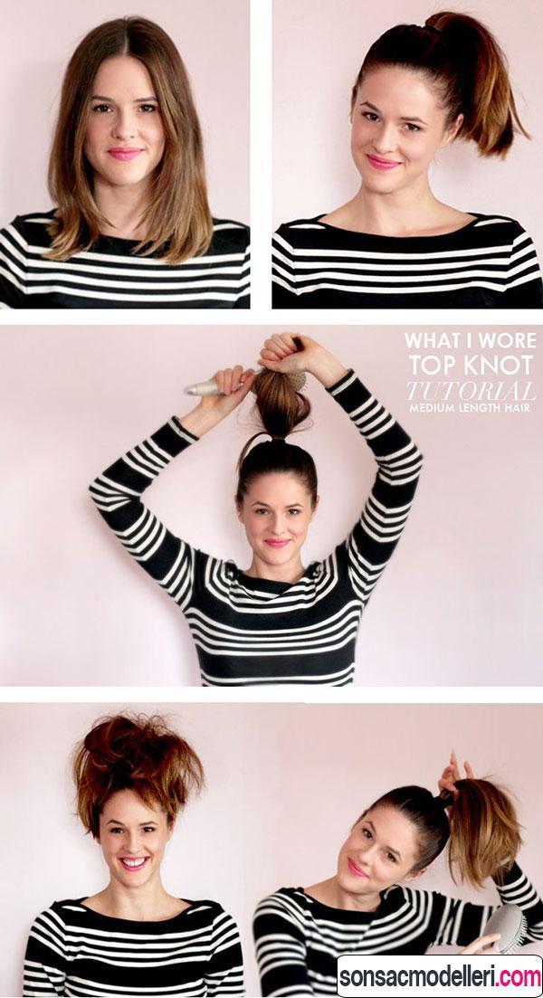 kolay kısa saç toplama şekilleri