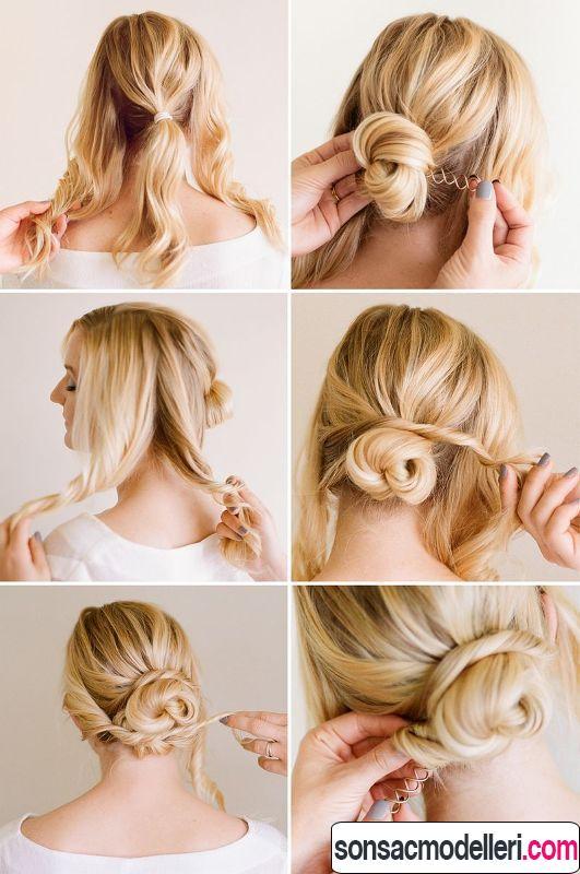 kolay saç toplama