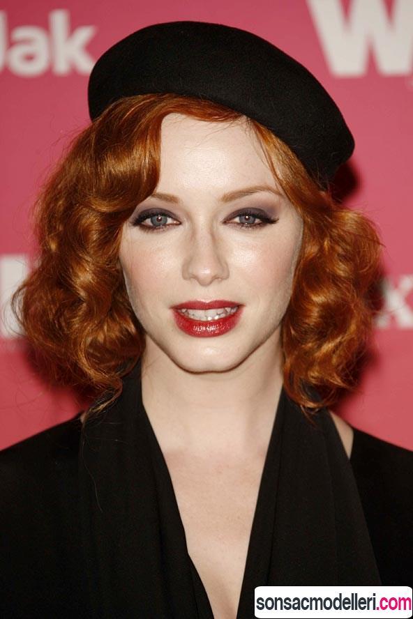 Kızıl saç için bere modeli