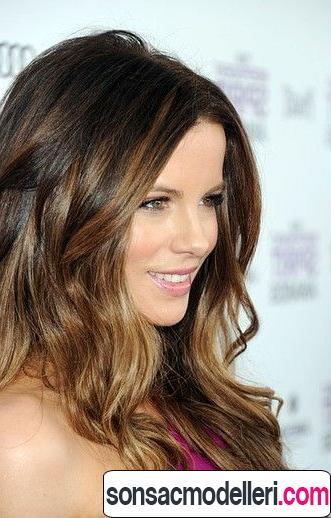 ışıltılı saç modeli