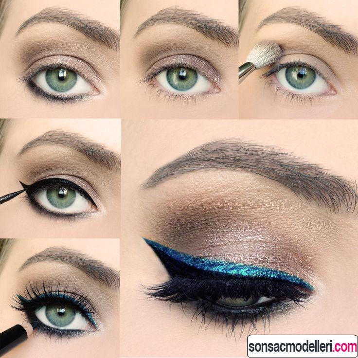 kedi gözü makyajı yapımı