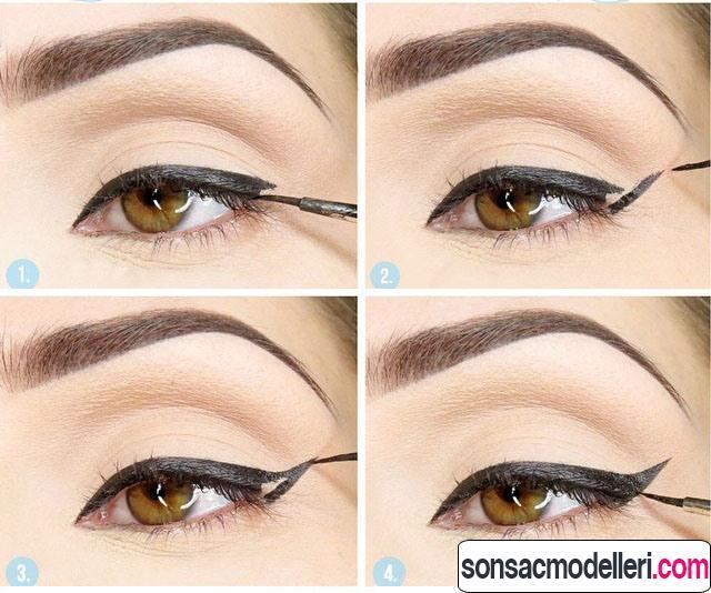 kedi gözü makyajı nasıl yapılır