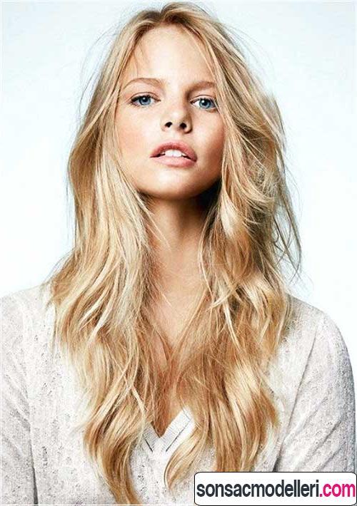 uzun katlı saç modelleri