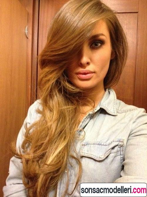 altın karamel saç modelleri