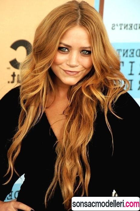 2016 altın karamel saç modası