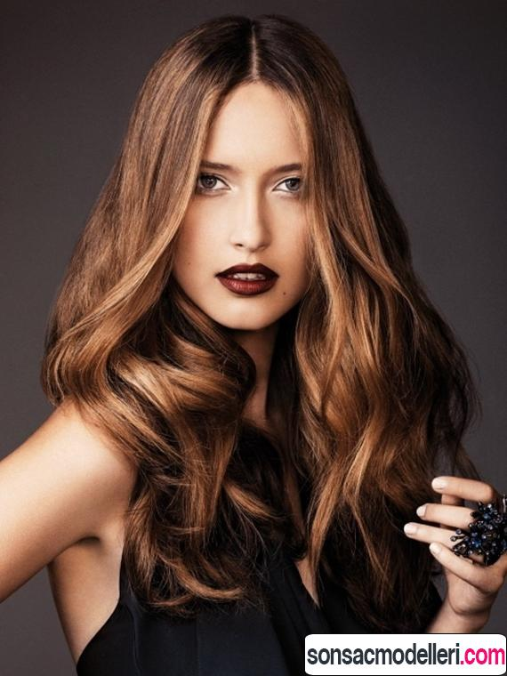 altın karamel saç modeli