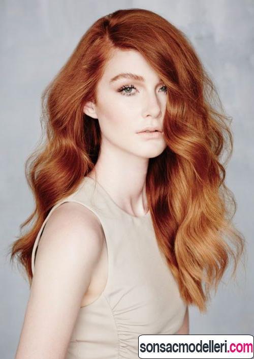bakır saç rengi modelleri