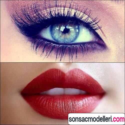 göz ve dudak makyajı