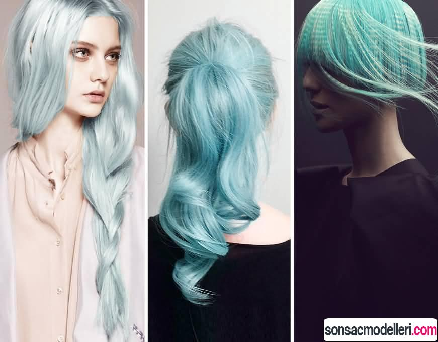 pastel mavi saç rengi