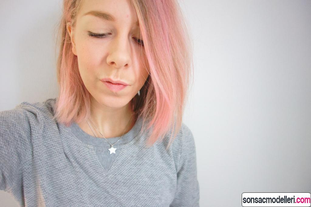 pudra pembesi saç rengi