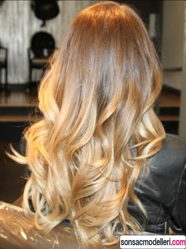 sarı ombre saç tonu