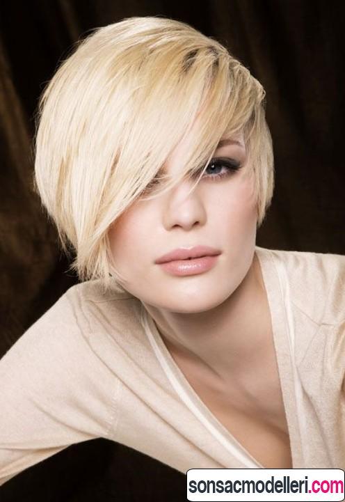 perçemli kısa saç kesimi modeli