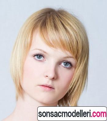 yan perçemli kısa saç kesim modelleri