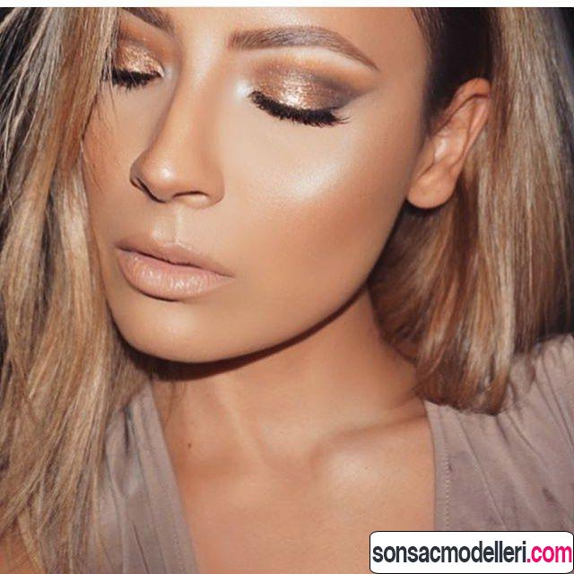 bronz makyaj örneği