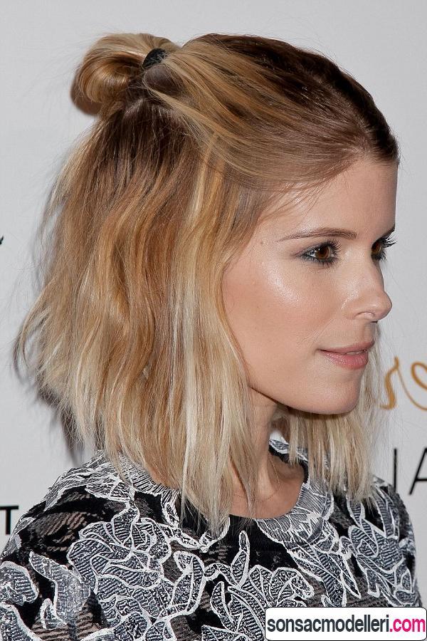 topuz saç modeli örneği