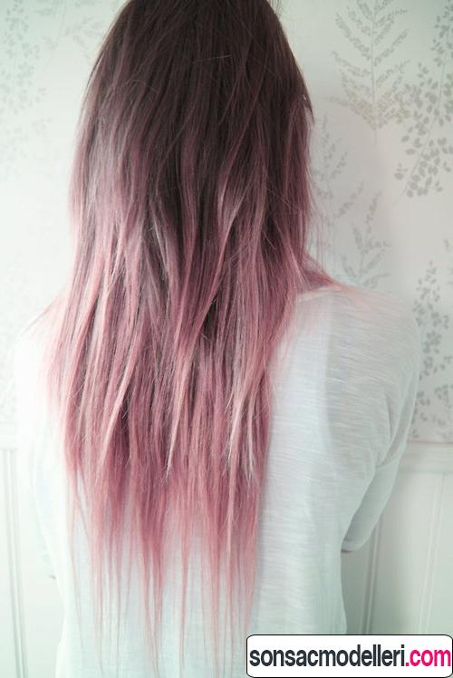 pastel ombre saç rengi