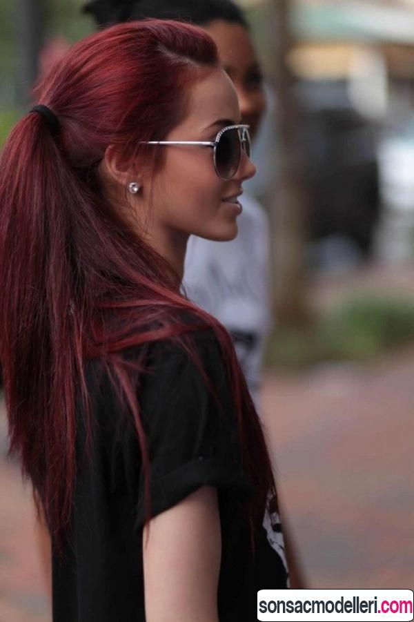 vişne kızılı saç rengi