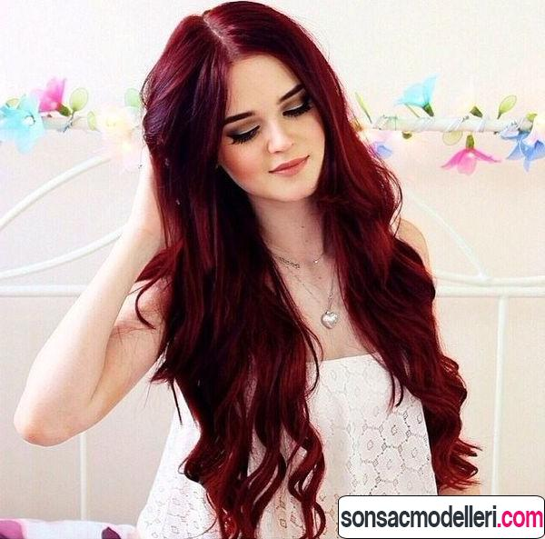 vişne kızılı saç rengi tonu