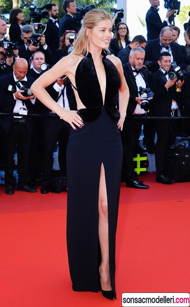 Doutzen Kroes 2016 cannes film festivali stili