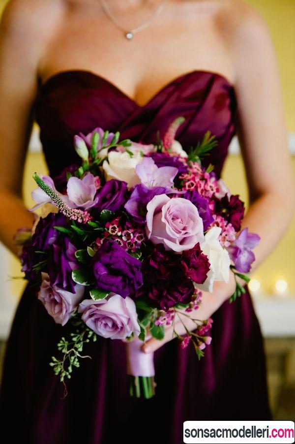 mor gelin çiçeği örnekleri