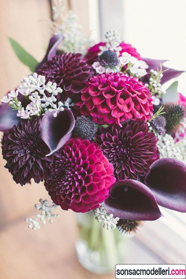 mor gelin çiçeği modelleri