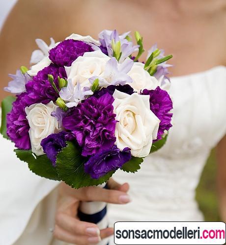 mor gelin çiçeği tasarımları