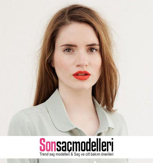 turuncu dudak makyajı