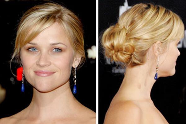 Reese Witherspoon şık topuz modeli