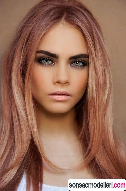 cara delevigne altın pembe gold rose saç rengi