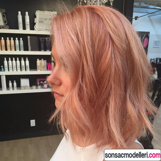 gold rose saç modelleri