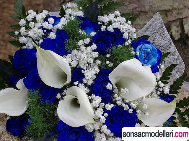 mavi çiçek modelleri
