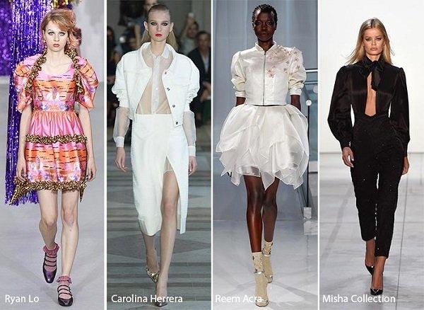 New York Moda Haftası Kabarık kıyafetler