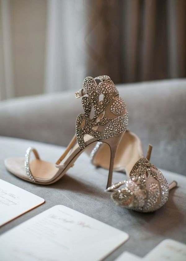pırlantalı gelin ayakkabıları