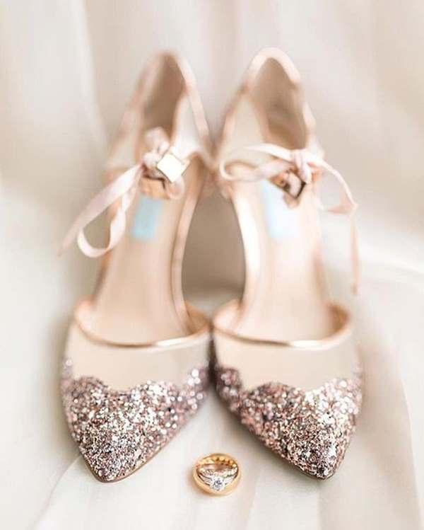 pırlantalı gelin ayakkabısı modeli
