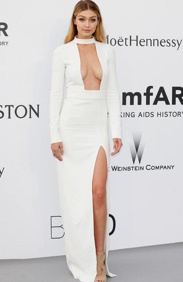 gigi hadid beyaz elbise