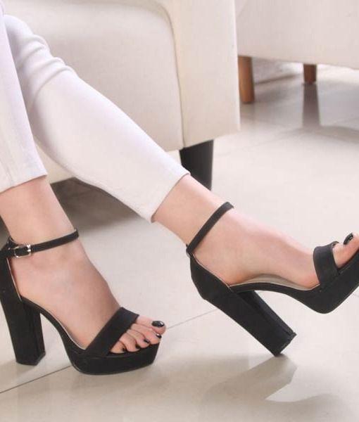 kalın topuklu ayakkabı feminen