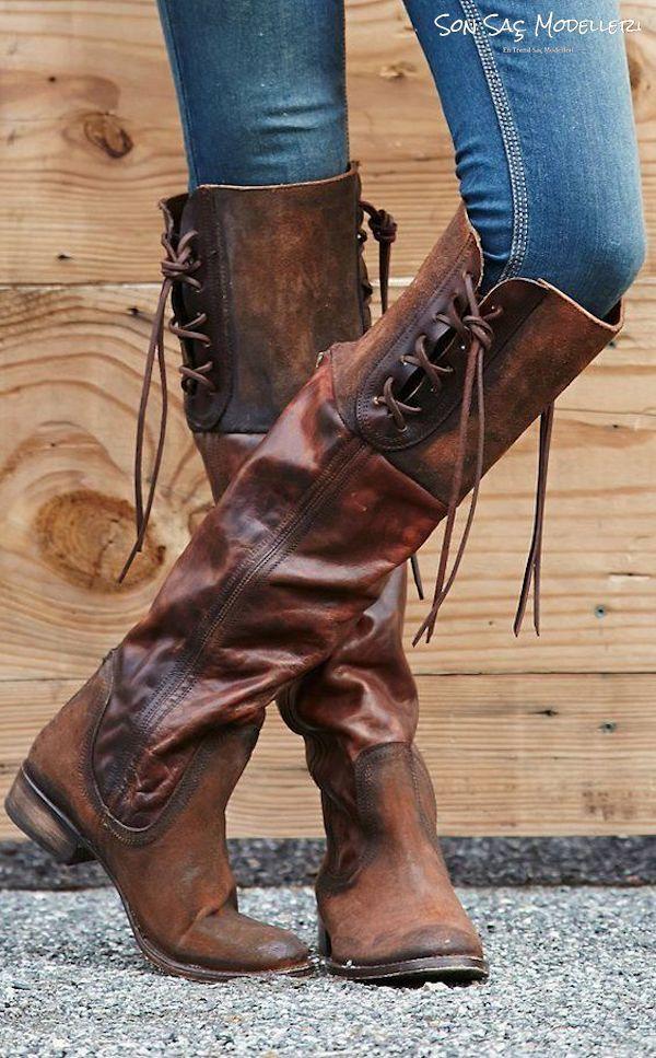 2018 kış modasında kovboy botları 103