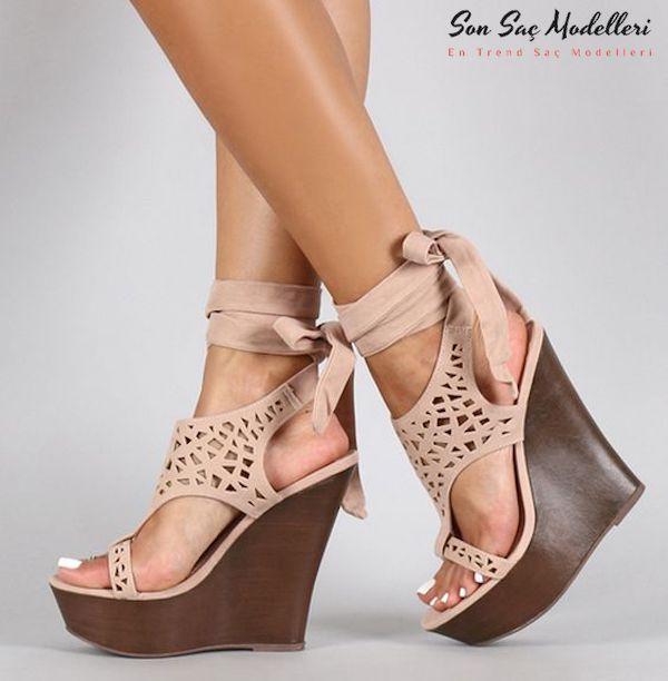 dolgu topuklu ayakkabılar 100