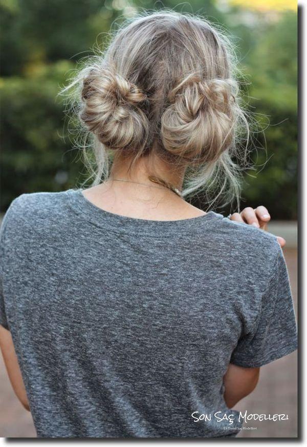 kısa saçlar için topuz modelleri 2018 11