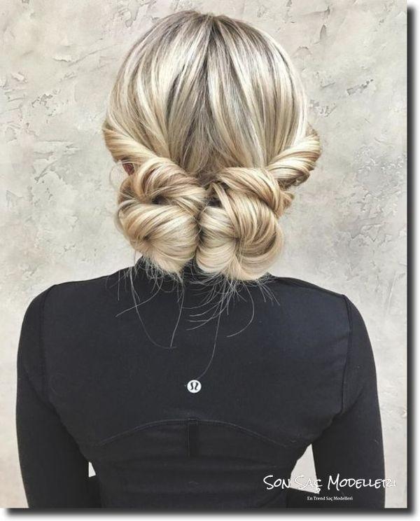 kısa saçlar için topuz modelleri 2018 12