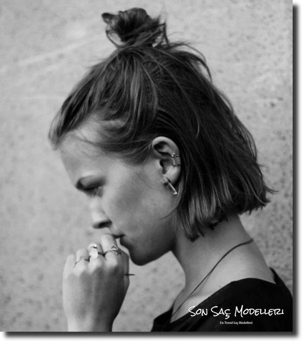 kısa saçlar için topuz modelleri 2018 23