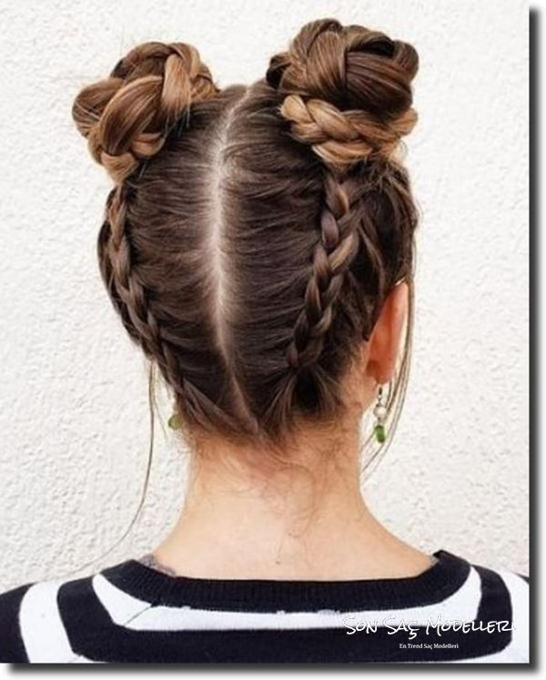 kısa saçlar için topuz modelleri 2018 9
